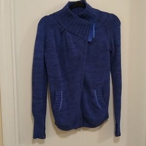 Ivivva wrap star marled blue sweater